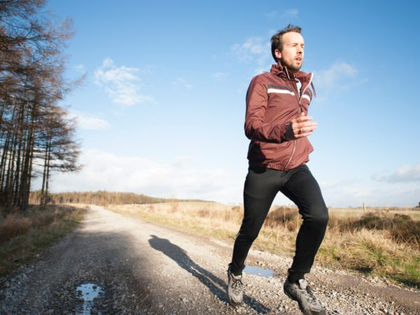 man running heart health